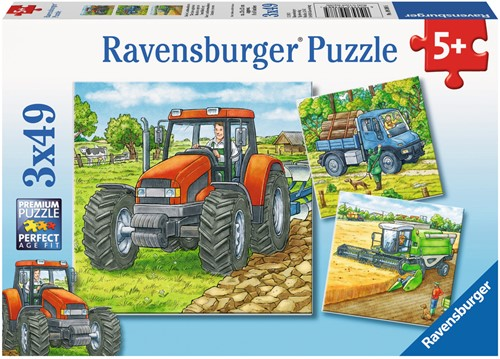 Grote Landbouwmachines Puzzel (3x49 stukjes)