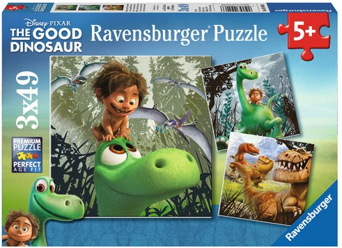 Arlo The Good Dinosaur Puzzel (3x49 stukjes)-1