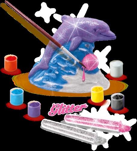 SES - Gieten en Schilderen - Glitter Dolfijn-2