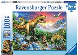 Bij de Dinosaurussen XXL Puzzel  (100 stukjes)