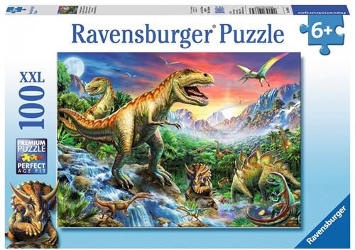 Bij de Dinosaurussen Puzzel (100 XXL stukjes)