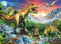 Bij de Dinosaurussen XXL Puzzel  (100 stukjes)-2