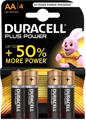 Duracell Batterijen Plus Power AA MN1500 / LR6 (4 stuks)