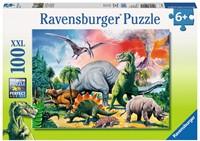 Tussen De Dinosauriërs Puzzel (100 stukjes)