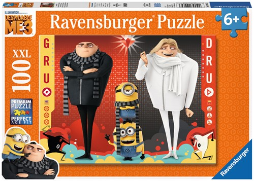 Gru, Dru en de Minions XXL Puzzel - Despicable Me 3 (100 stukjes)-1