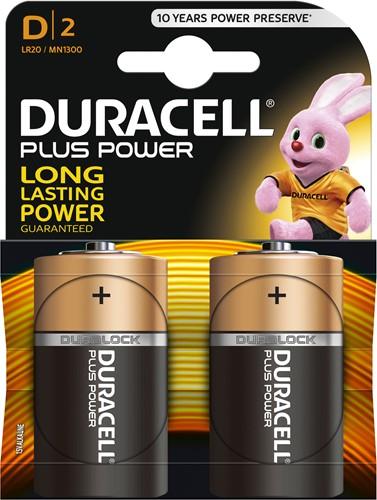 Duracell Batterijen Plus Power D MN1300 / LR20 (2 stuks)