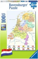 Cito - Nederlandse Kaart XXL Puzzel (100 stukjes)