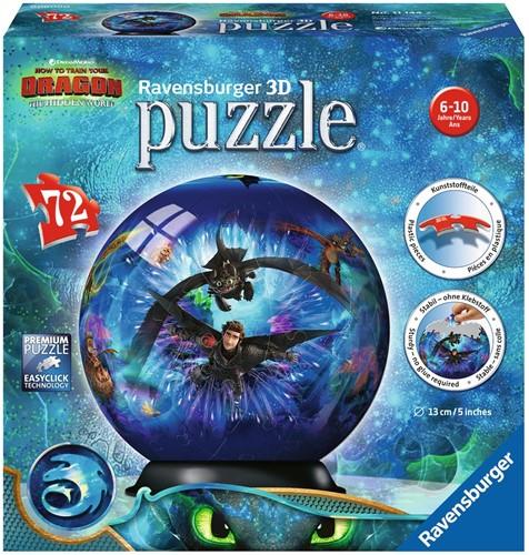 3D Puzzel - Dragons 3 (72 stukjes)