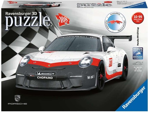 3D Puzzel - Porsche GT3 Cup (108 stukjes)