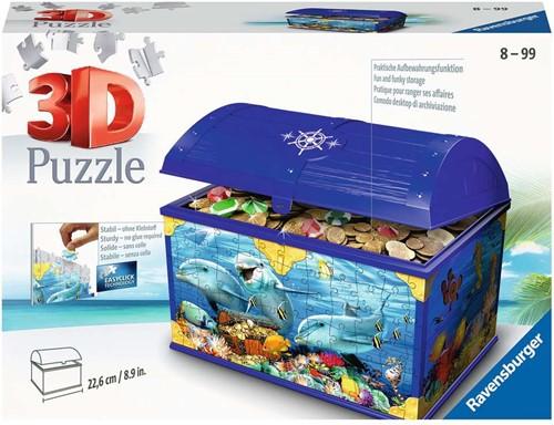 3D Puzzel - Schatkist Onderwaterwereld (216 stukjes)