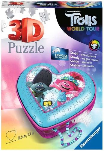 3D Puzzel - Trolls 2 Hartendoosje (54 stukjes)