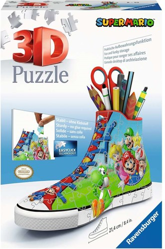 3D Puzzel - Sneaker Super Mario (108 stukjes)