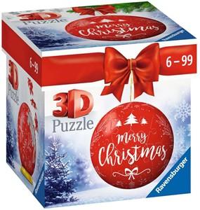 3D Puzzel - Kerstbal Merry Christmas (54 stukjes)