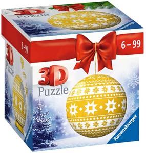 3D Puzzel - Kerstbal Geel (54 stukjes)