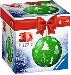 3D Puzzel - Kerstbal Groen (54 stukjes)