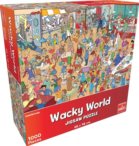 Wacky World - Lunchroom Puzzel (1000 stukjes)