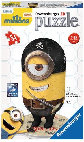 3D puzzel - Minions Shape Eye, Matie (54 stukjes)-1