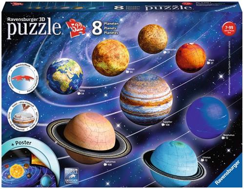 3D Puzzel - Zonnestelsel (522 stukjes)