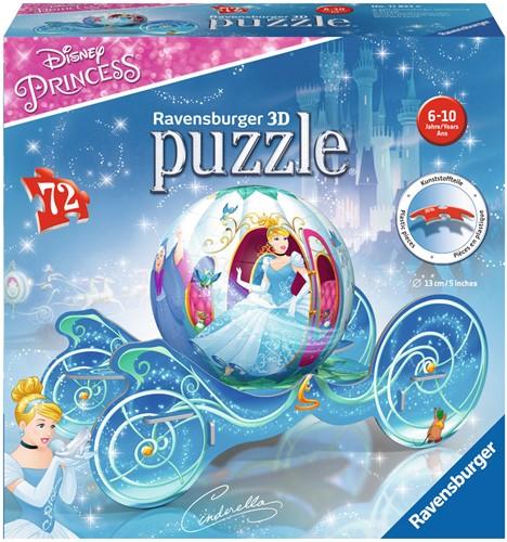 Cinderella Koets - 3D Puzzel (72 stukjes)-1