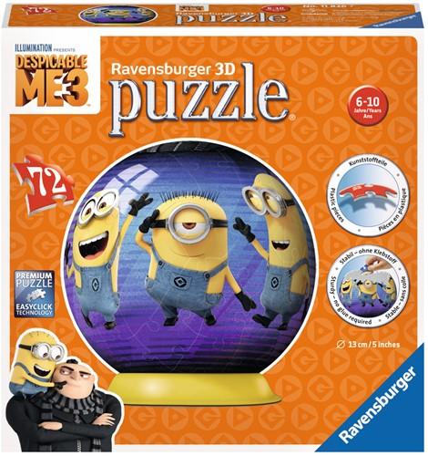 Puzzelbal Despicable Me 3 - 3D Puzzel (72 stukjes)