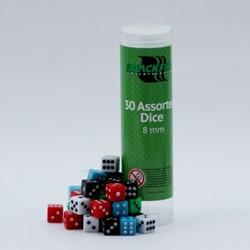 Mini Dobbelstenen 8mm - Assorti (30 stuks)