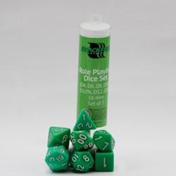 Polydice Dobbelstenen 16mm - Groen (7 stuks)