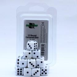 Dobbelstenen 16mm Wit (15 stuks)