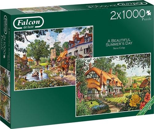 Falcon - A Beautiful Summer's Day Puzzel (2 x 1000 stukjes)