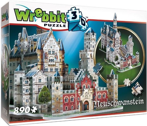 Wrebbit 3D Puzzel - Neuschwanstein kasteel (890 stukjes)