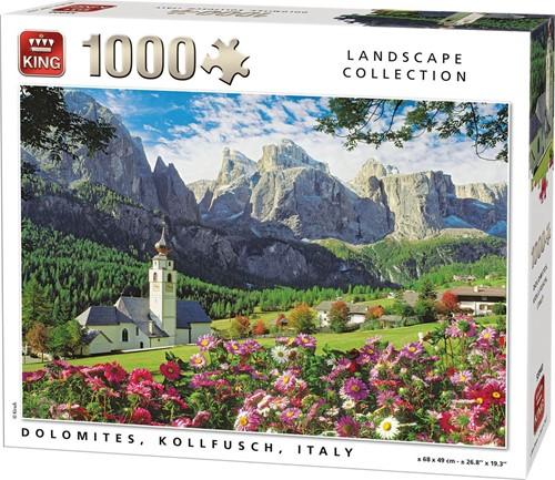 Italië - Bergen & Bloemen in de Dolomieten Puzzel (1000 stukjes)