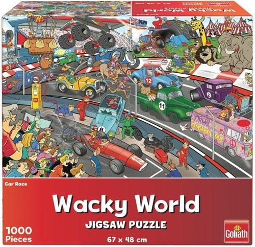 Wacky World - Car Race Puzzel (1000 stukjes)