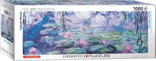 Waterlilies - Claude Monet Panorama Puzzel (1000 stukjes)