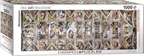 Michelangelo - Sixtijnse Kapel Panorama Puzzel (1000 stukjes)