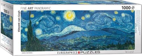 Starry Night - Vincent van Gogh Panorama Puzzel (1000 stukjes)