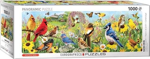 Garden Birds - Greg Giordano Panorama Puzzel (1000 stukjes)