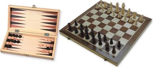 Schaak-/backgammon Klapcassette