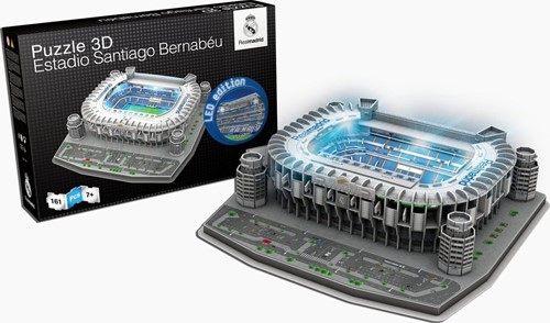 Real Madrid - Sant Bernabeu LED 3D Puzzel (161 stukjes)