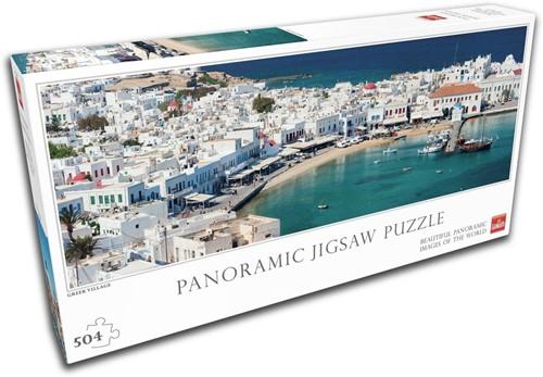 Greek Village Panorama Puzzel (504 stukjes)