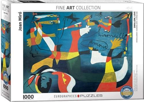 Swallow, Love - Joan Miro Puzzel (1000 stukjes)