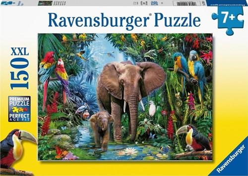 Olifanten in de Jungle Puzzel (150 XXL stukjes)