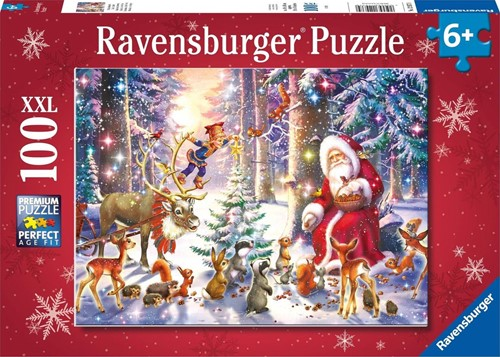 Kerstmis in het bos Puzzel (100 XXL stukjes)