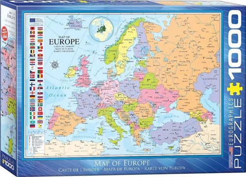 Map of Europe Puzzel (1000 stukjes)