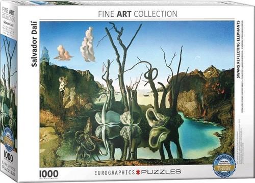 Swans Reflecting Elephants - Salvador Dali Puzzel (1000 stukjes)