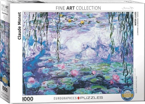 Waterlilies - Claude Monet Puzzel (1000 stukjes)