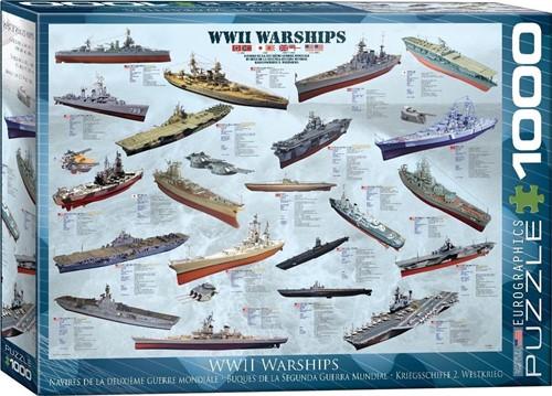 WW II Warships Puzzel (1000 stukjes)