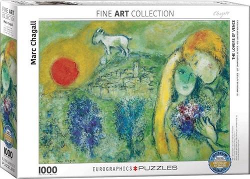 Marc Chagall - The Lovers of Venice Puzzel (1000 stukjes)