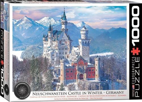 Neuschwanstein Castle in Winter Puzzel (1000 stukjes)