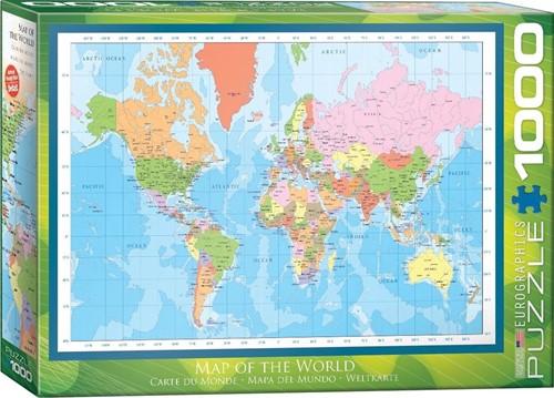 Map of the World Puzzel (1000 stukjes)