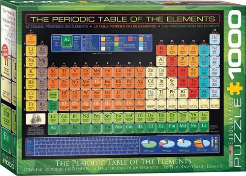 The Periodic Table of the Elements Puzzel (1000 stukjes)