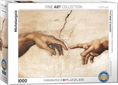 Creation of Adam - Michelangelo Puzzel (1000 stukjes)